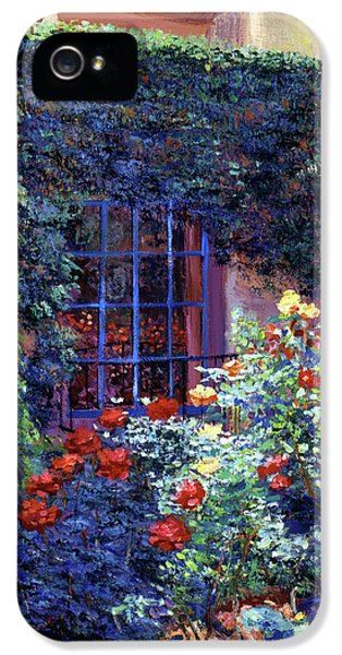 Guesthouse Rose Garden IPhone 5 Case by David Lloyd Glover