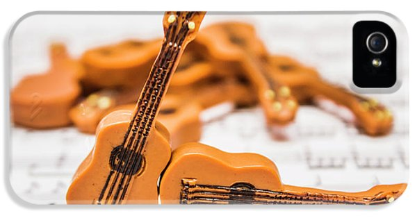 Guitars On Musical Notes Sheet IPhone 5 Case by Jorgo Photography - Wall Art Gallery