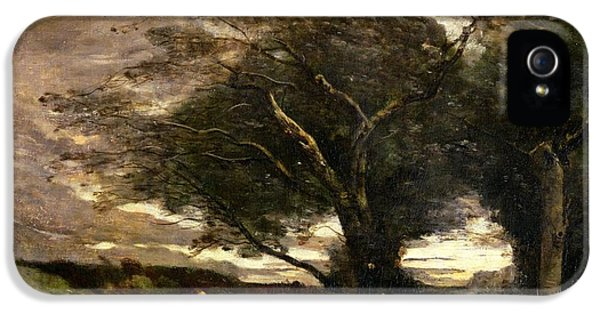 Gust Of Wind IPhone 5 / 5s Case by Jean Baptiste Camille Corot