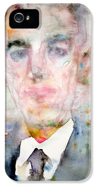 H. P. Lovecraft - Watercolor Portrait.3 IPhone 5 Case