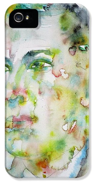 H. P. Lovecraft - Watercolor Portrait.5 IPhone 5 Case