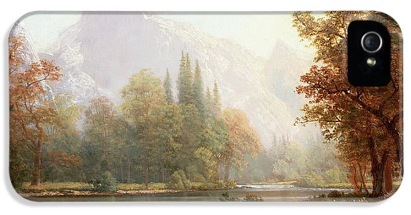 Half Dome Yosemite IPhone 5 Case by Albert Bierstadt