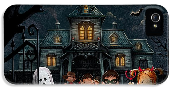Halloween Kids Night IPhone 5 Case by Bedros Awak
