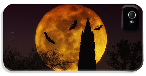 Halloween iPhone 5 Cases - Halloween Moon iPhone 5 Case by Bill Cannon