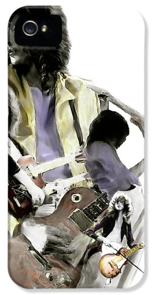 Hammer Of The Gods   Jimmy Page IPhone 5 / 5s Case by Iconic Images Art Gallery David Pucciarelli