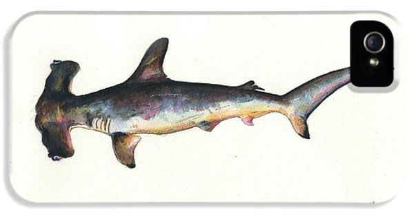 Hammerhead Shark iPhone 5 Case - Hammerhead Shark by Juan Bosco