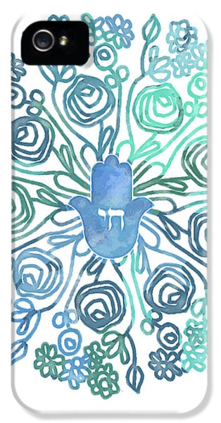 Hamsa Mandala 1- Art By Linda Woods IPhone 5 Case by Linda Woods