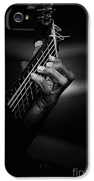 Guitar iPhone 5 Case - Hand Of A Guitarist In Monochrome by Sheila Smart Fine Art Photography