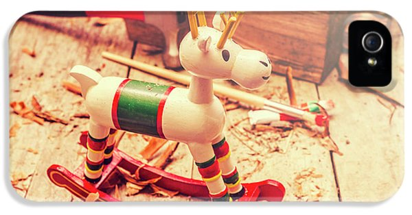 Handmade Xmas Rocking Toy IPhone 5 Case by Jorgo Photography - Wall Art Gallery