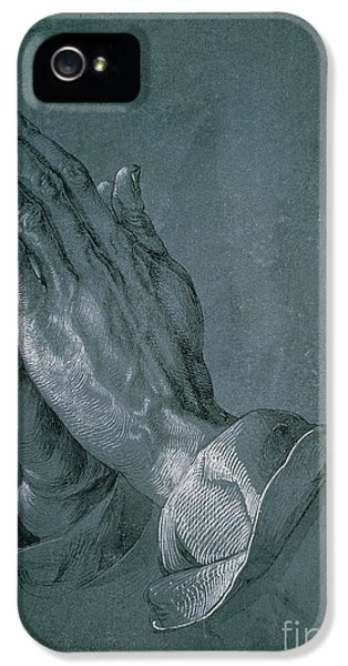 Hands Of An Apostle IPhone 5 Case by Albrecht Durer