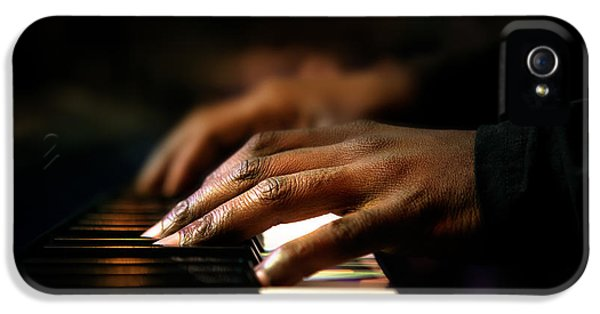 Hands Playing Piano Close-up IPhone 5 Case by Johan Swanepoel