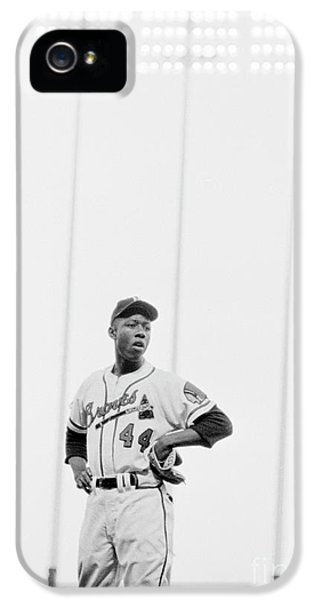 Hank Aaron On The Field, 1958 IPhone 5 / 5s Case by The Harrington Collection