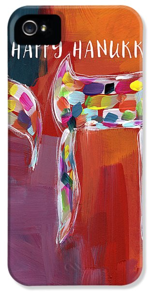 Hanukkah Chai- Art By Linda Woods IPhone 5 Case by Linda Woods