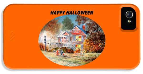 Happy Halloween IPhone 5 Case by Bill Holkham