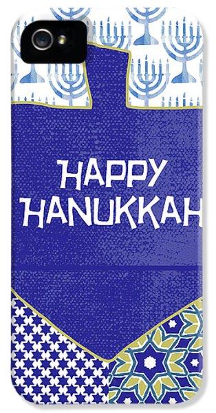 Happy Hanukkah Dreidel 1- Art By Linda Woods IPhone 5 Case