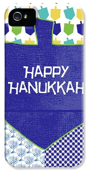 Happy Hanukkah Dreidel 2- Art By Linda Woods IPhone 5 Case