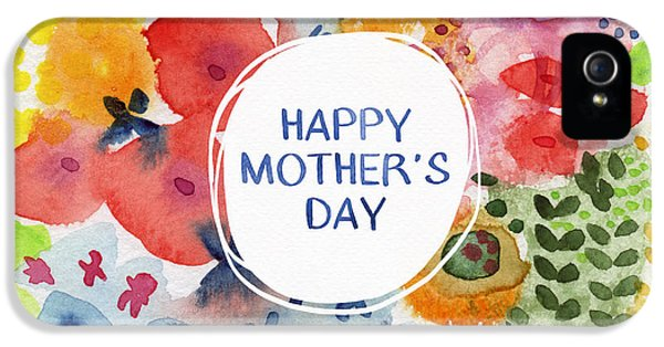Day iPhone 5 Case - Happy Mothers Day Watercolor Garden- Art By Linda Woods by Linda Woods