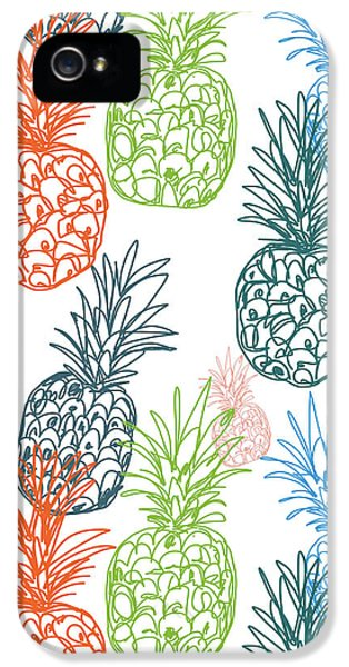 Happy Pineapple- Art By Linda Woods IPhone 5 Case