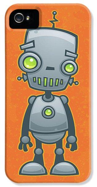 Happy Robot IPhone 5 Case by John Schwegel