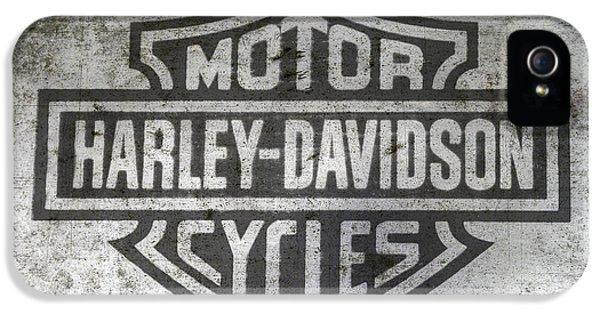 Harley Davidson Logo On Metal IPhone 5 Case