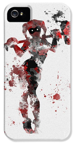 Harley Quinn IPhone 5 Case by Rebecca Jenkins