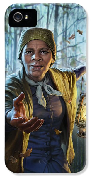 London Tube iPhone 5 Case - Harriet Tubman by Mark Fredrickson