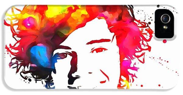 Harry Styles Paint Splatter IPhone 5 Case by Dan Sproul