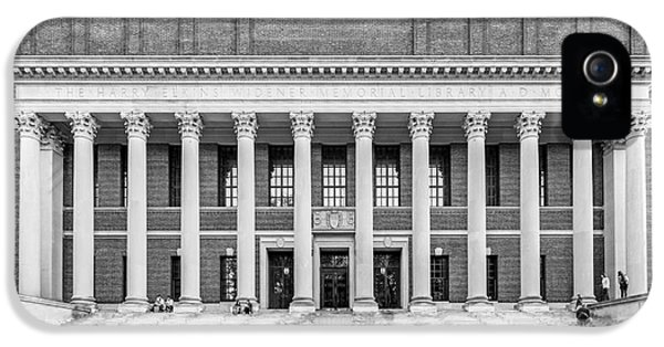 Widener Library At Harvard University IPhone 5 Case by University Icons