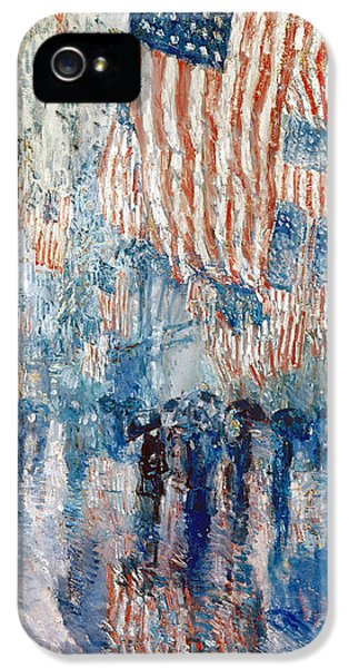 Hassam Avenue In The Rain IPhone 5 Case by Granger