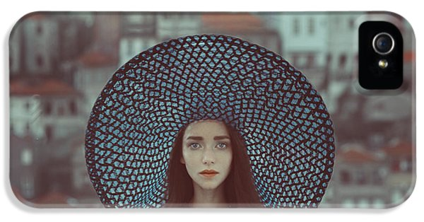 Portraits iPhone 5 Case - Hat And Houses by Anka Zhuravleva
