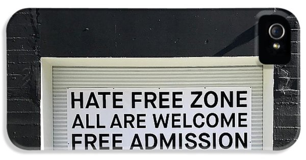 iPhone 5 Case - Hate Free Zone by Julie Gebhardt