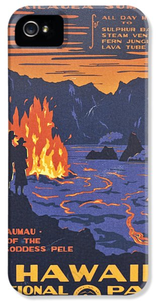Hawaii Vintage Travel Poster IPhone 5 Case by Georgia Fowler