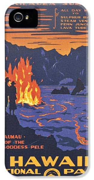 Pele iPhone 5 Case - Hawaii Vintage Travel Poster by Georgia Fowler