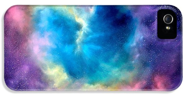 Heart Of The Universe IPhone 5 Case by Sally Seago