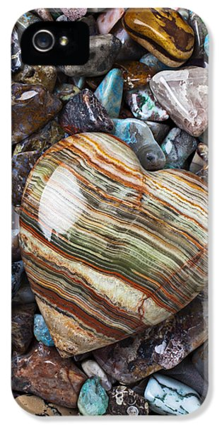 Heart Stone IPhone 5 Case by Garry Gay