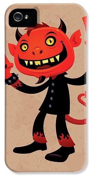 Music iPhone 5 Case - Heavy Metal Devil by John Schwegel