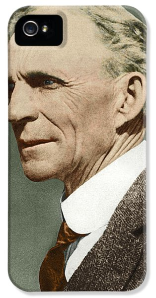 Henry Ford, Us Car Manufacturer IPhone 5 Case by Sheila Terry