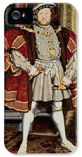 Henry Viii IPhone 5 Case by Hans Holbein the Younger