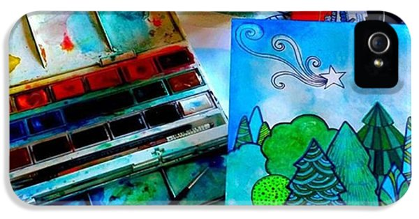 Green iPhone 5 Case - Here Is My Newest Watercolor And Ink by Robin Mead