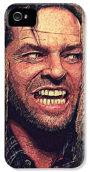 Here's Johnny - The Shining  IPhone 5 Case by Taylan Apukovska