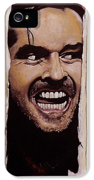 Jack Nicholson iPhone 5 Case - Here's Johnny by Tom Carlton