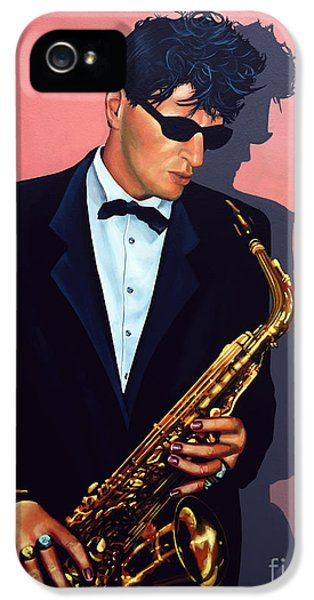 Saxophone iPhone 5 Case - Herman Brood by Paul Meijering