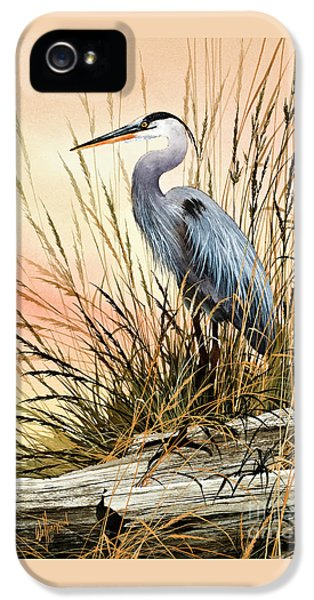 Heron Sunset IPhone 5 Case by James Williamson