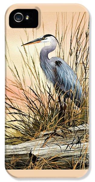 Heron iPhone 5 Case - Heron Sunset by James Williamson