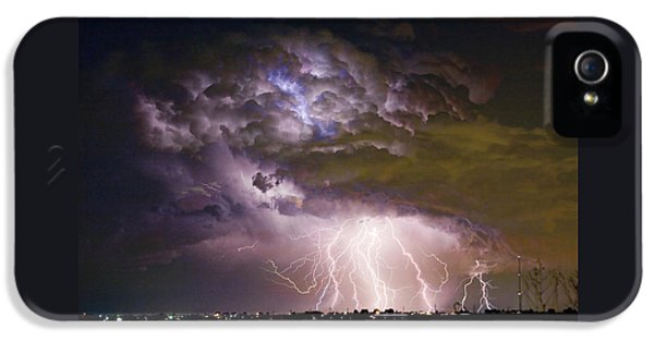Highway 52 Storm Cell - Two And Half Minutes Lightning Strikes IPhone 5 Case