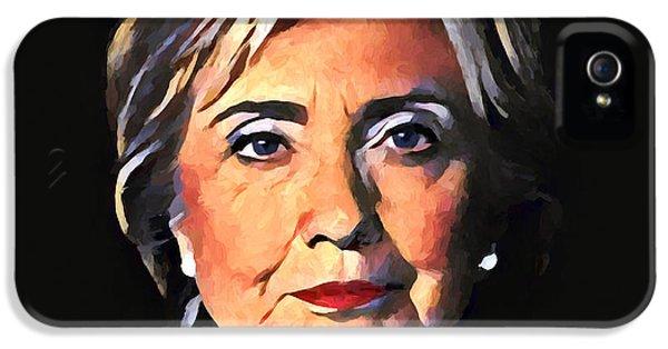 Hillary Clinton iPhone 5 Case - Hillary Clinton by Dan Sproul