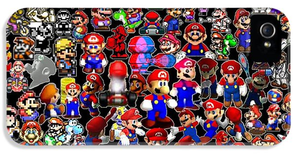 History Of Mario Mosaic IPhone 5 Case