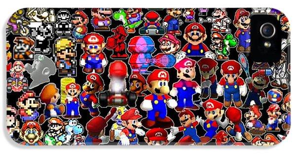 History Of Mario Mosaic IPhone 5 Case
