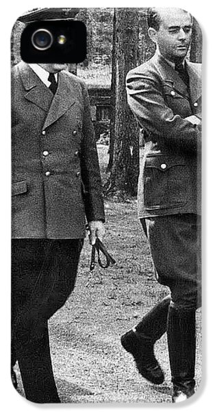 Hitler Strolling With Albert Speer Unknown Date Or Location IPhone 5 Case