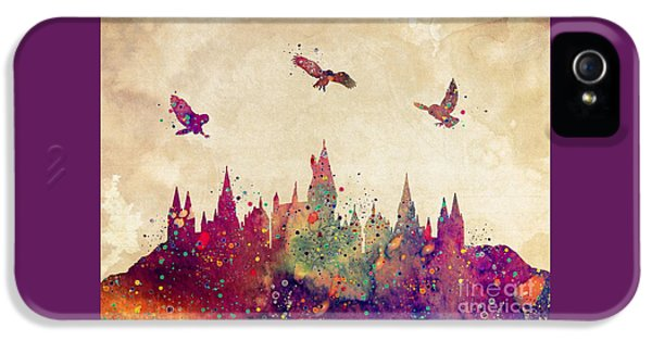 Hogwarts Castle Watercolor Art Print IPhone 5 Case